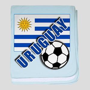 URUGUAY Soccer Team baby blanket