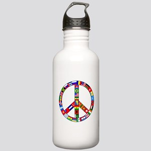 Peace Sign Made of Fla Stainless Water Bottle 1.0L