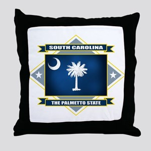 South Carolina Flag Throw Pillow