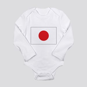 Rising Sun Flag of Japan Long Sleeve Infant Bodysu