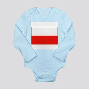 Three Cheers for Poland Long Sleeve Infant Bodysui