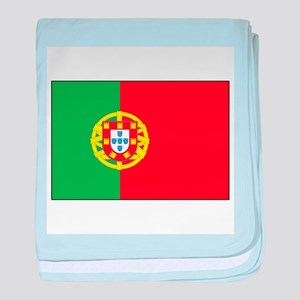 The Flag of Portugal baby blanket
