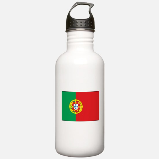The Flag of Portugal Water Bottle