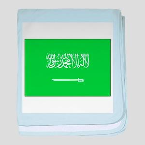 Saudi Arabian Flag baby blanket