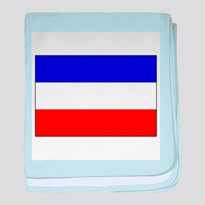 Serbia-Montenegro flag baby blanket