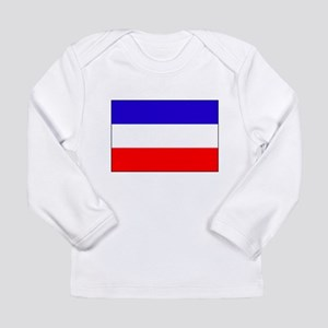 Serbia-Montenegro flag Long Sleeve Infant T-Shirt