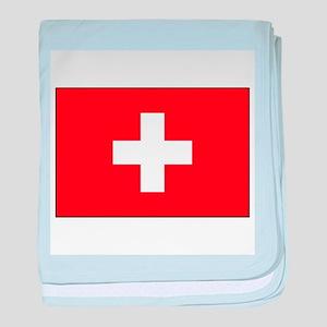Swiss Flag for Swiss Pride baby blanket