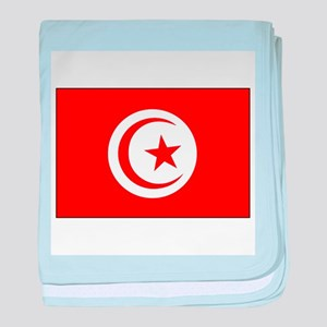 Flag of Tunisia Soccer Pride baby blanket
