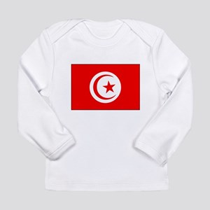 Flag of Tunisia Soccer Pride Long Sleeve Infant T-