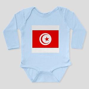Flag of Tunisia Soccer Pride Long Sleeve Infant Bo