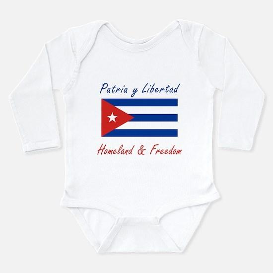 Patria y Libertad Cuba Long Sleeve Infant Bodysuit