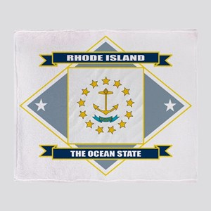 Rhode Island Flag Throw Blanket