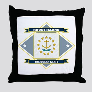 Rhode Island Flag Throw Pillow