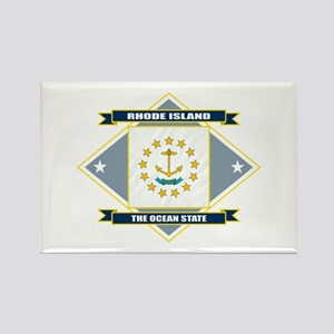 Rhode Island Flag Rectangle Magnet