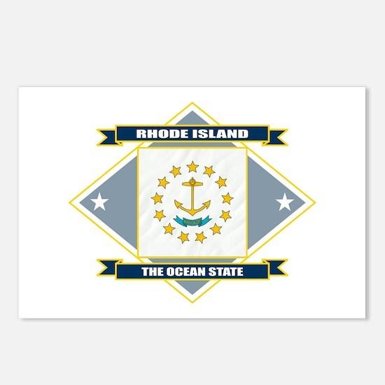 Rhode Island Flag Postcards (Package of 8)