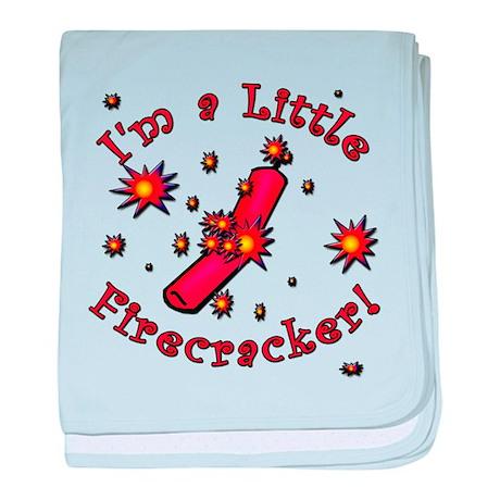 I'm a Little Firecracker baby blanket