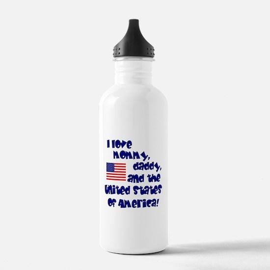 Cute Patriotic baby Water Bottle