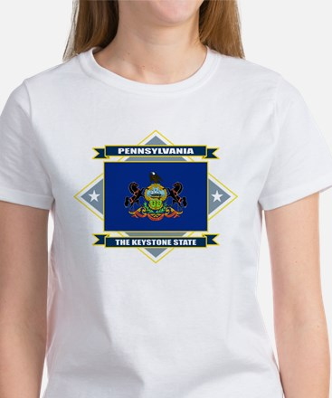 Pennsylvania Flag Women's T-Shirt