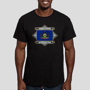 Pennsylvania Flag Men's Fitted T-Shirt (dark)