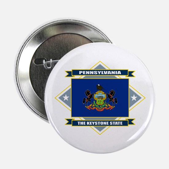 "Pennsylvania Flag 2.25"" Button"