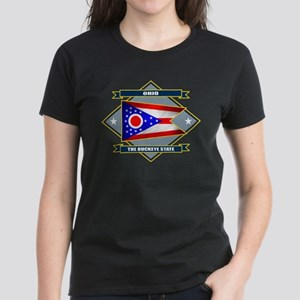 Ohio Flag Women's Dark T-Shirt
