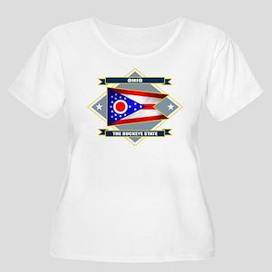 Ohio Flag Women's Plus Size Scoop Neck T-Shirt