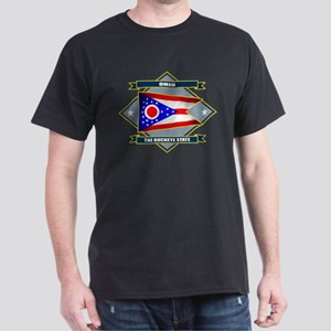 Ohio Flag Dark T-Shirt
