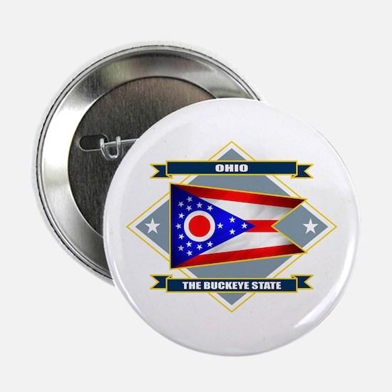 """Ohio Flag 2.25"""" Button"""