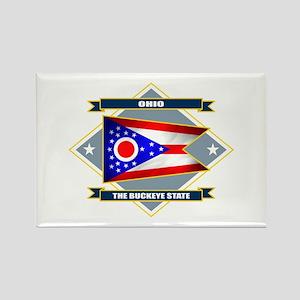 Ohio Flag Rectangle Magnet