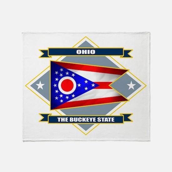 Ohio Diamond Throw Blanket