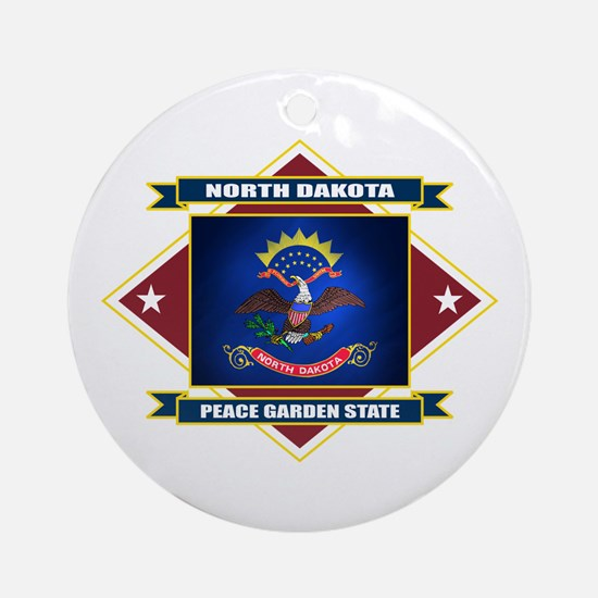 North Dakota Flag Ornament (Round)