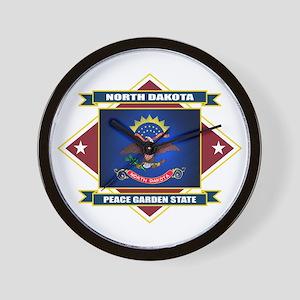 North Dakota Flag Wall Clock