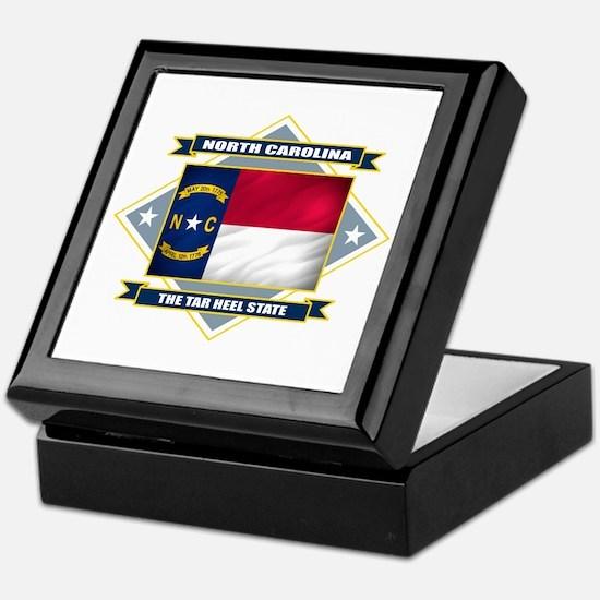 North Carolina Flag Keepsake Box