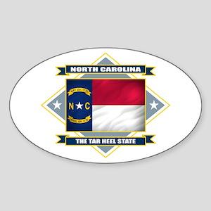 North Carolina Flag Sticker (Oval)