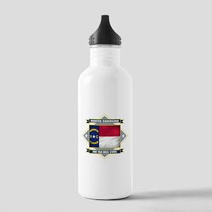 North Carolina Diamond Stainless Water Bottle 1.0L