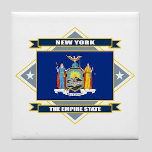 New York Flag Tile Coaster