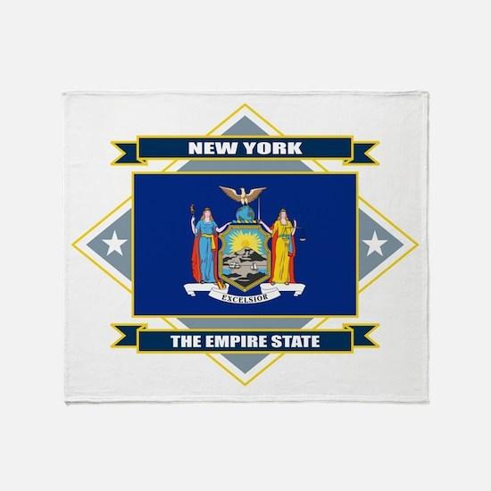 New York Diamond Throw Blanket