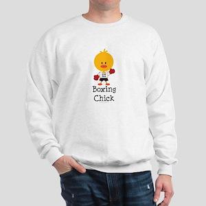 Boxing Chick Sweatshirt
