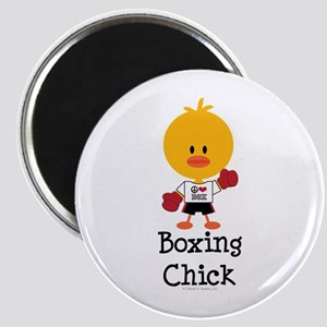 Boxing Chick Magnet