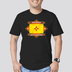 New Mexico Flag Men's Fitted T-Shirt (dark)