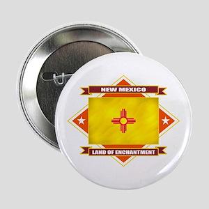 """New Mexico Flag 2.25"""" Button"""