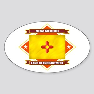 New Mexico Flag Sticker (Oval)