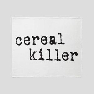 Cereal Killer Throw Blanket