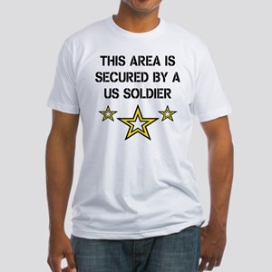 Area Secured by US Soldier Fitted T-Shirt