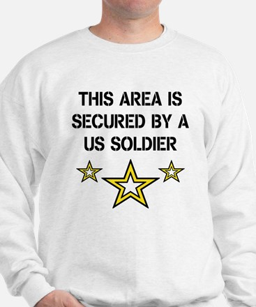 Area Secured by US Soldier Sweatshirt
