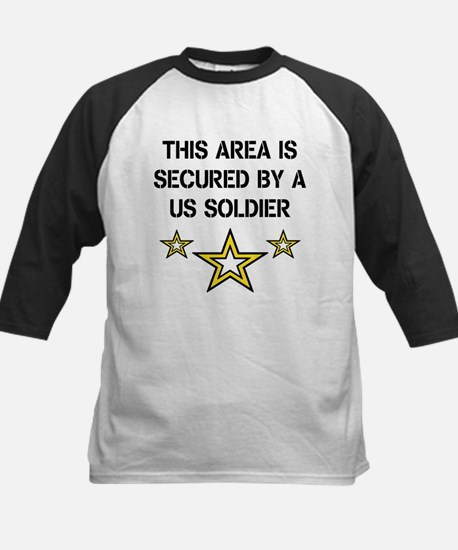 Area Secured by US Soldier Kids Baseball Jersey