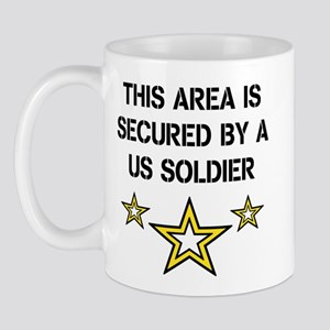Area Secured by US Soldier Mug