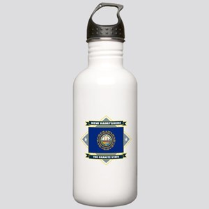 New Hampshire Diamond Stainless Water Bottle 1.0L