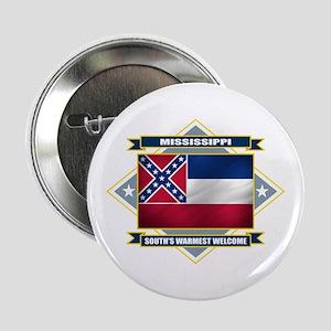 "Mississippi Flag 2.25"" Button"