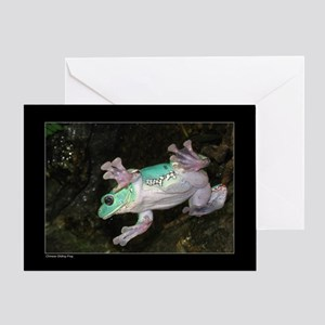 Chinese Gliding Frog Greeting Card